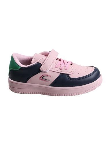 Cool Pembe-Lacivert Kız Çocuk Günlük Spor Ayakkabı Pembe
